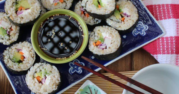 Sushi de arroz integral
