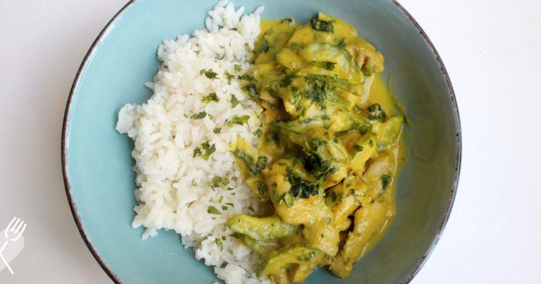 Pollo al curry con vegetales