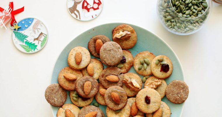 Galletas de amapola y coco con frutos secos