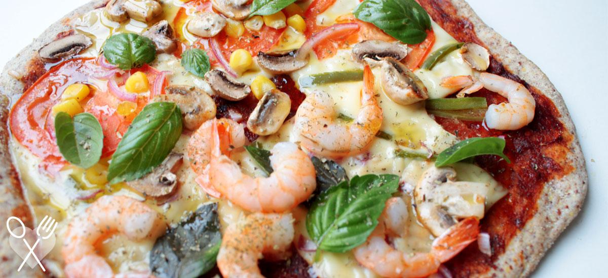 Pizza con masa integral. La mejor receta