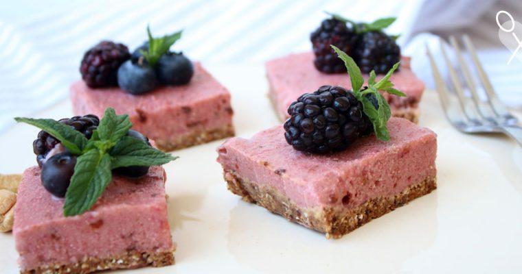 Cheesecake de frutillas vegano