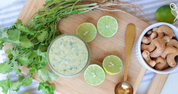 Mayonesa de cilantro a base castañas de cajú